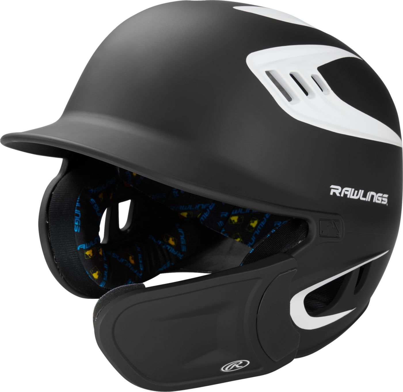 Rawlings Junior VELO Matte Batting Helmet w/ Extended Jaw Guard