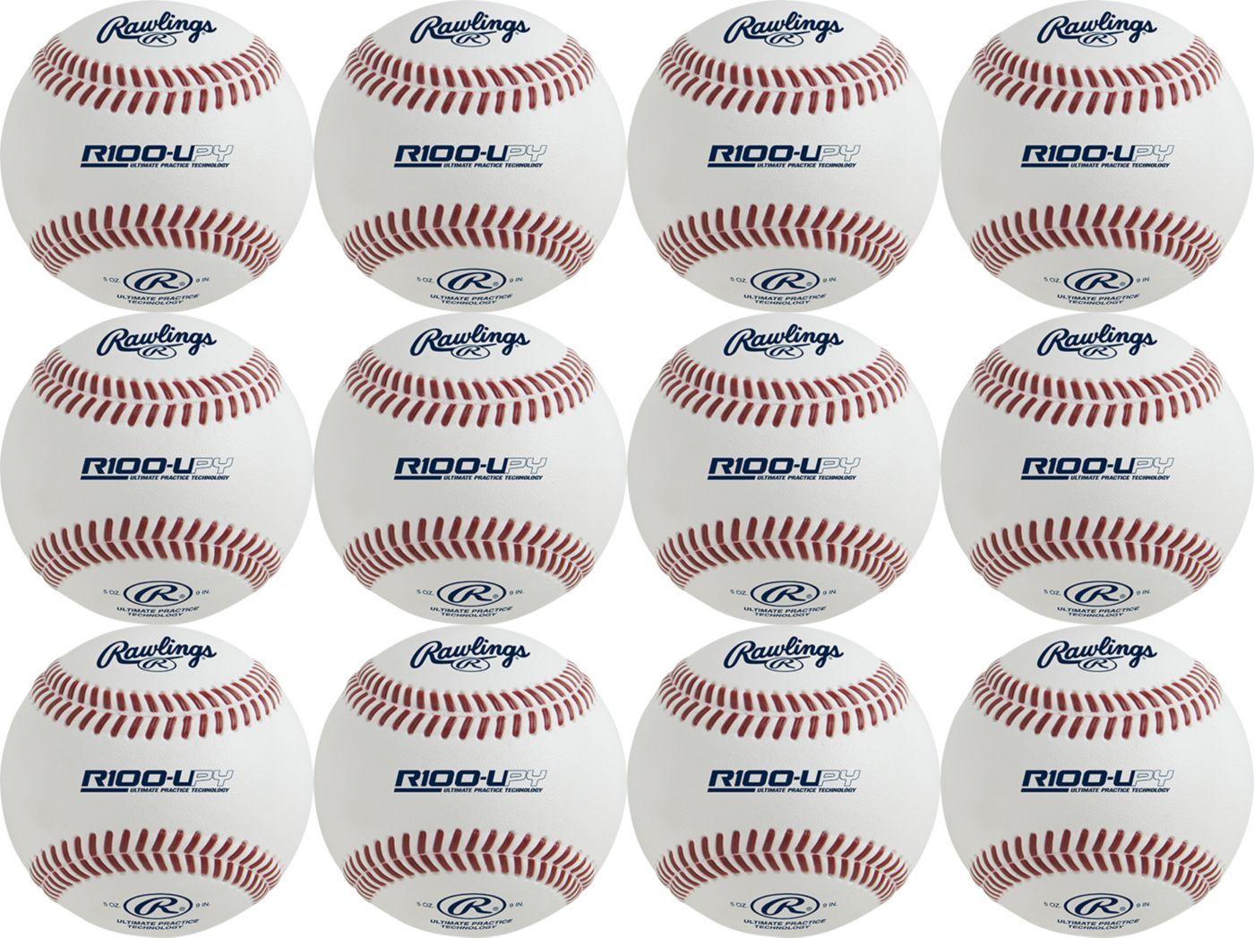 Rawlings R100-UPY Youth Ultimate Batting Practice Baseballs -12 Pack