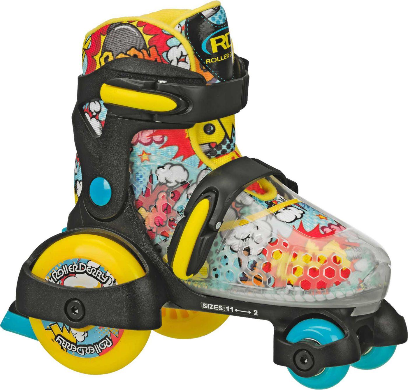 Roller Derby Boys' Jr. Fun Roll Adjustable Roller Skates
