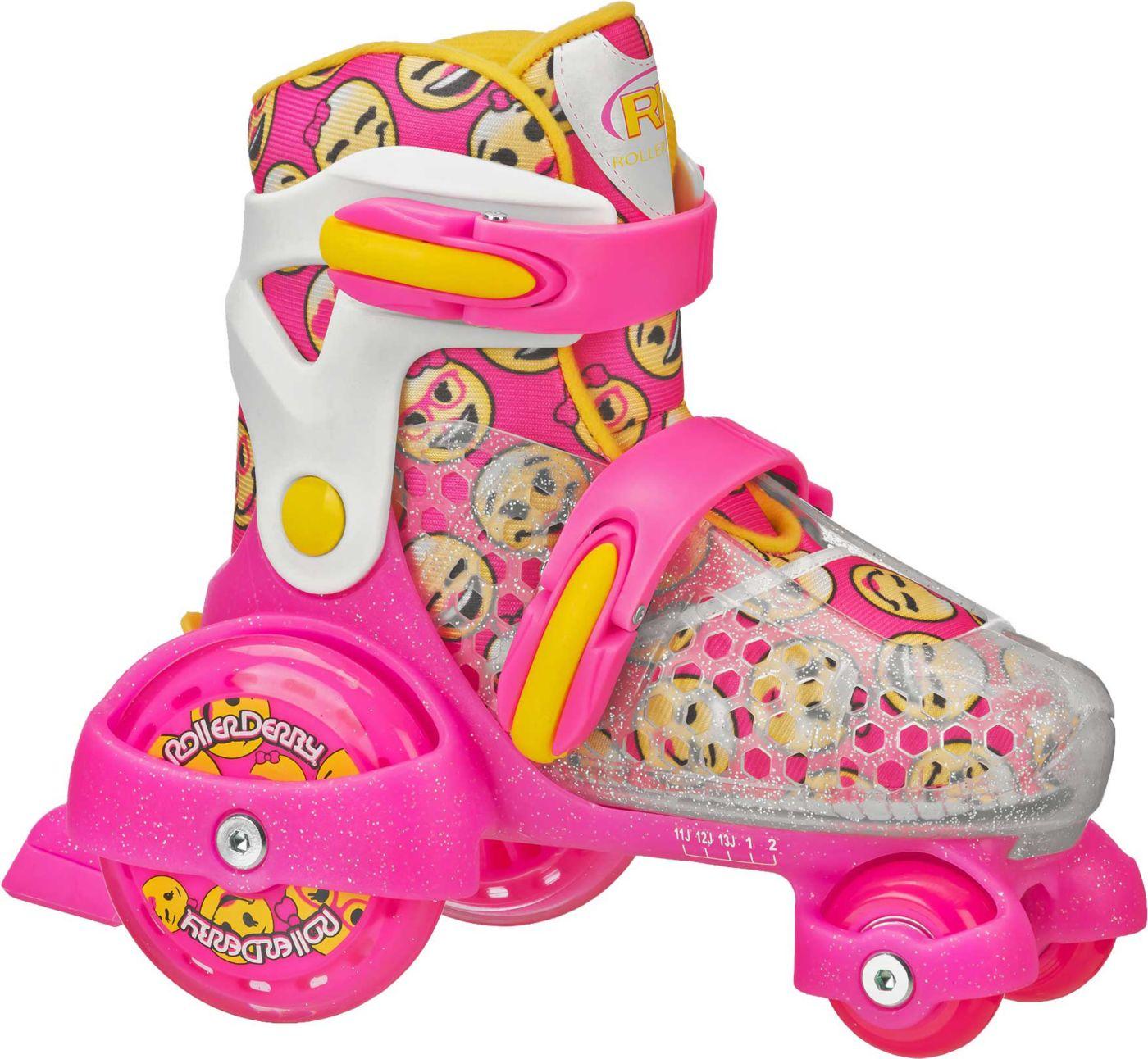 Roller Derby Girls' Jr. Fun Roll Adjustable Roller Skates