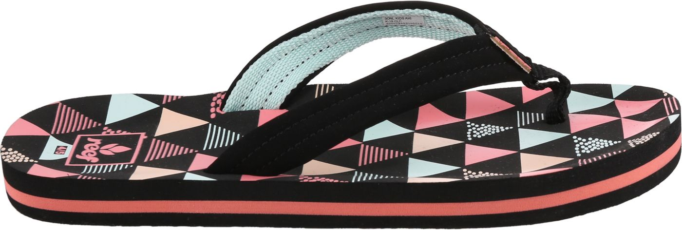 Reef Kids' Ahi Surf Flags Flip Flops
