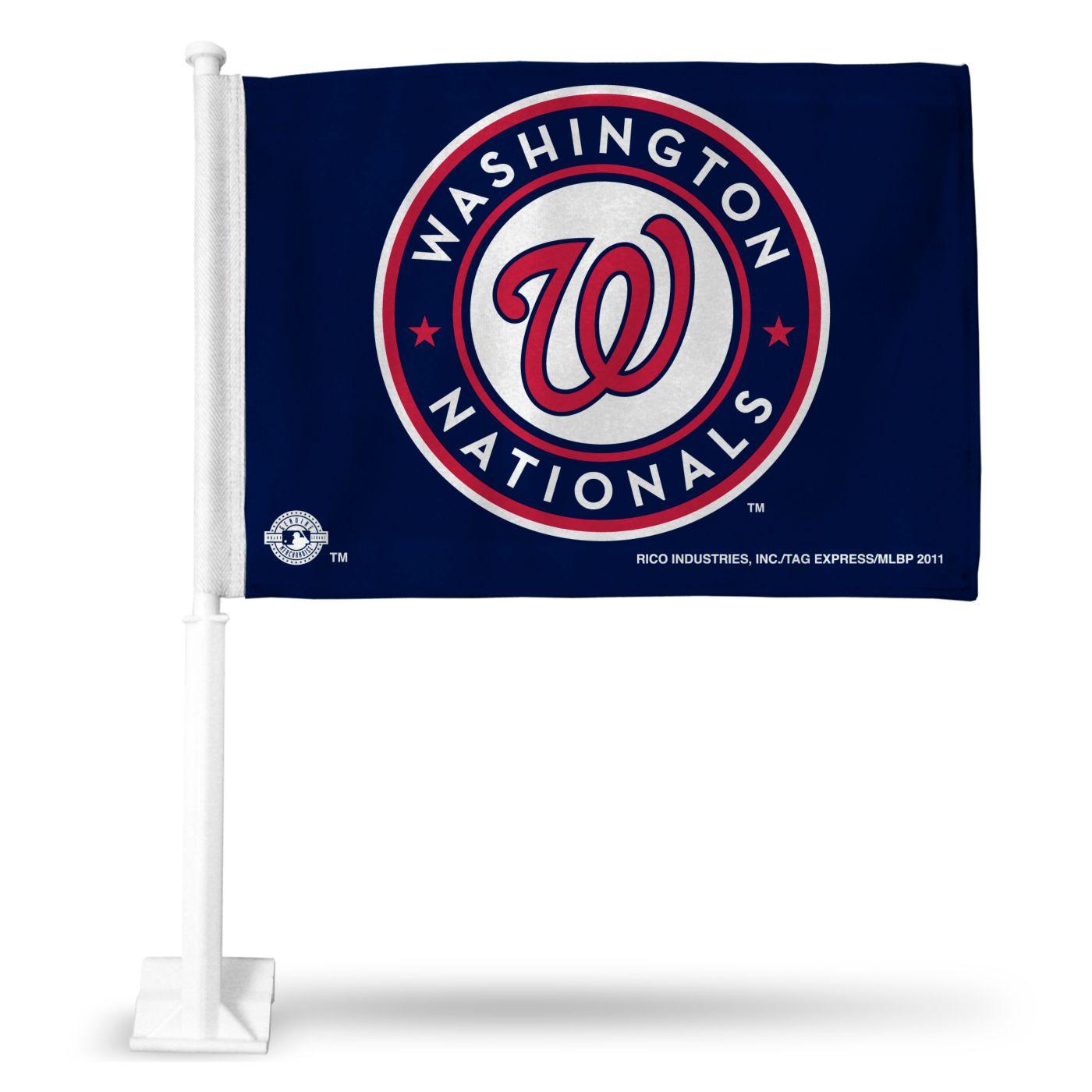 Rico Washington Nationals Car Flag