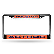 Rico Houston Astros Black Laser Chrome License Plate Frame
