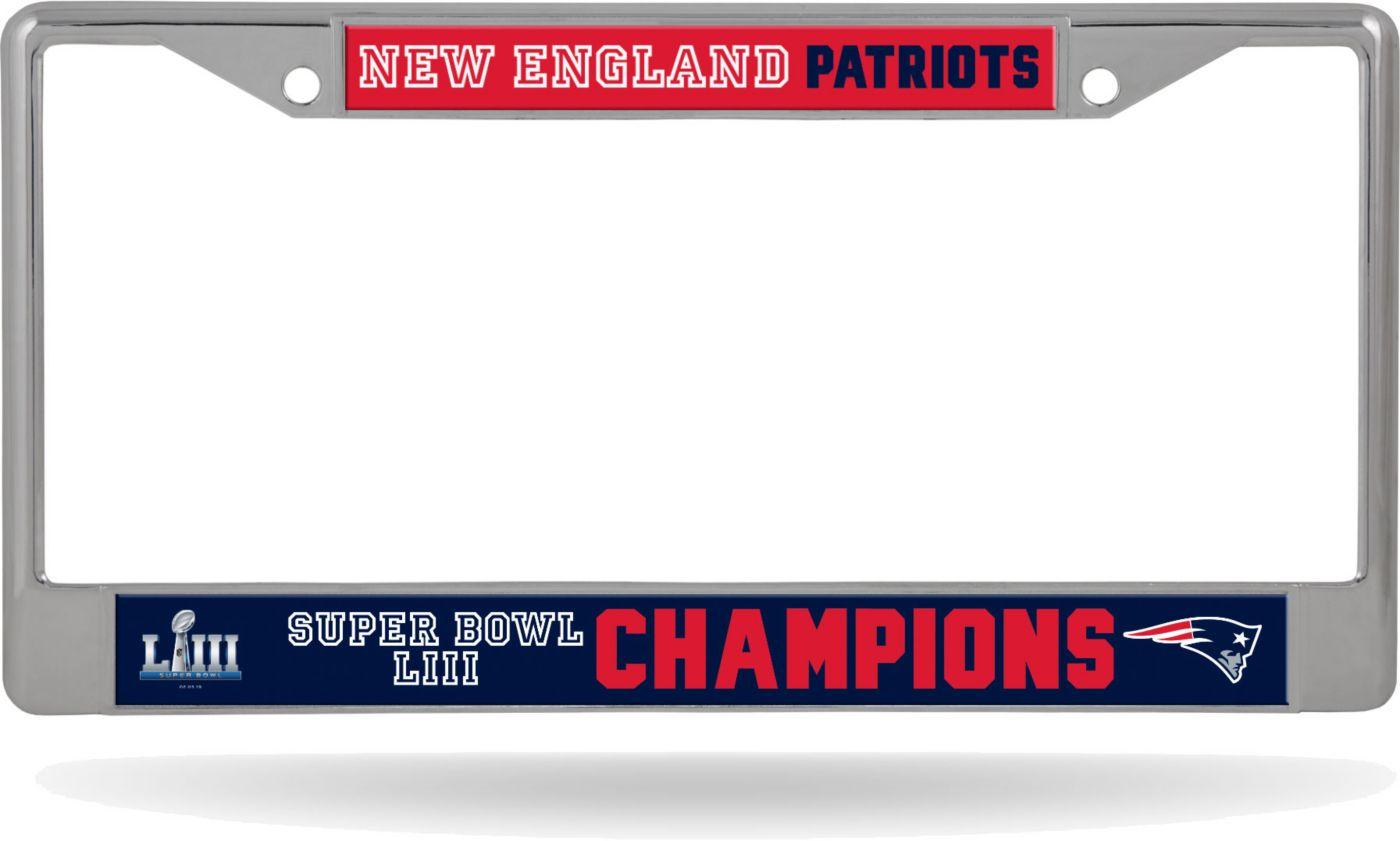 Rico Super Bowl LIII Champions New England Patriots License Plate Frame