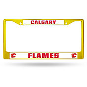 Rico Calgary Flames Colored Chrome License Plate Frame
