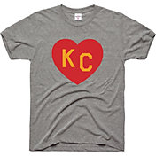 Charlie Hustle Men's KC Heart Vintage Grey T-Shirt