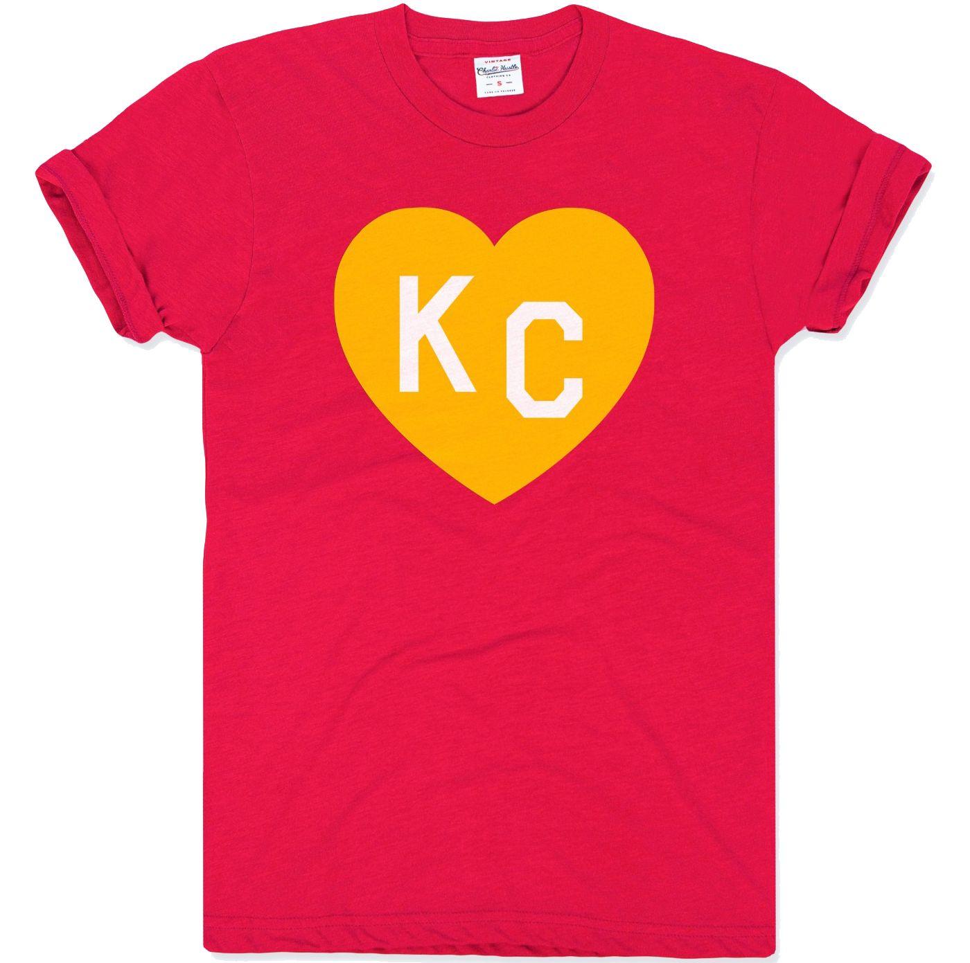 Charlie Hustle Men's KC Heart Red T-Shirt