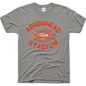 Charlie Hustle Men's Arrowhead Stadium Vintage Grey T-Shirt