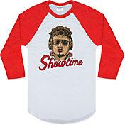 Charlie Hustle Men's Showtime Mahomes Red Raglan Shirt