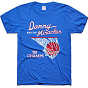 Charlie Hustle Men's Kansas Jayhawks Blue Danny and the Miracles Basketball T-Shirt