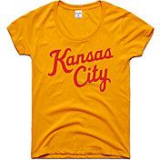 Charlie Hustle Women's Kansas City Script Gold T-Shirt