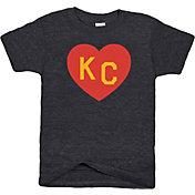Charlie Hustle Youth KC Heart Black T-Shirt