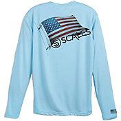 Scales Gear Men's Raise Flags USA Performance Long Sleeve Shirt