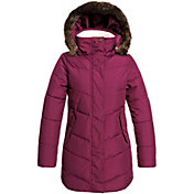 Roxy Girls' Elsie Girl Long Puffer Jacket