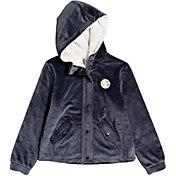 Roxy Girls' New Soul Velvet Hooded Full Zip Jacket