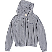 Roxy Women's Cloudy Skies Stripe Full Zip Hoodie