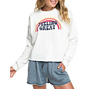 Roxy Women's Dream Believer A Cropped Sweatshirt
