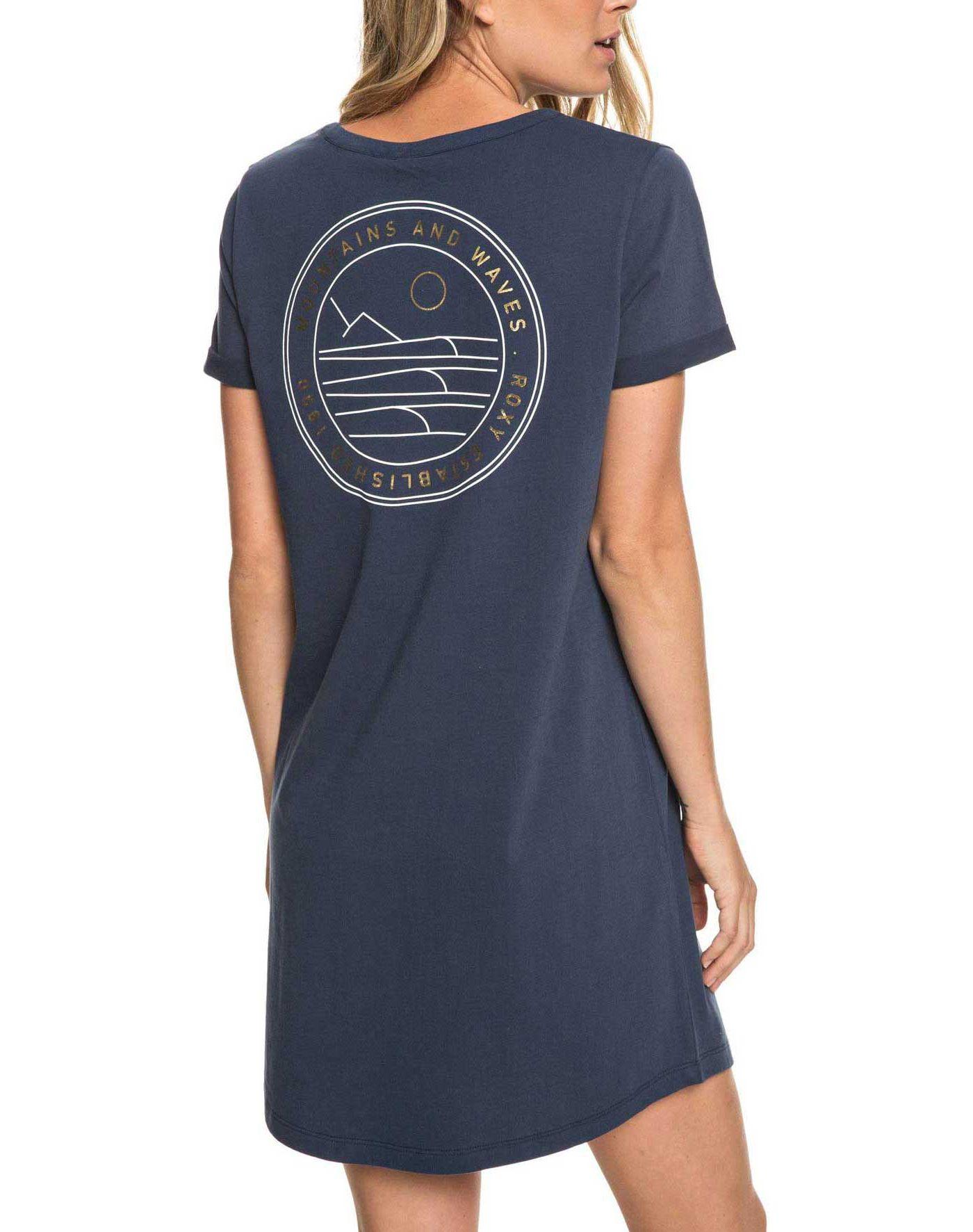 Roxy Women's On My Wave Short Sleeve T-Shirt Dress