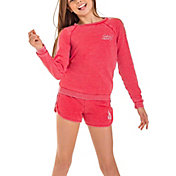 Roxy Girls' Pompom Fleuri Fleece Crew Sweatshirt