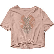 Roxy Women's Pineapple Sun Notched Crew Short Sleeve T-Shirt