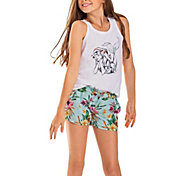 Roxy Girls' Rainbow Shower Viscose Shorts in Floral