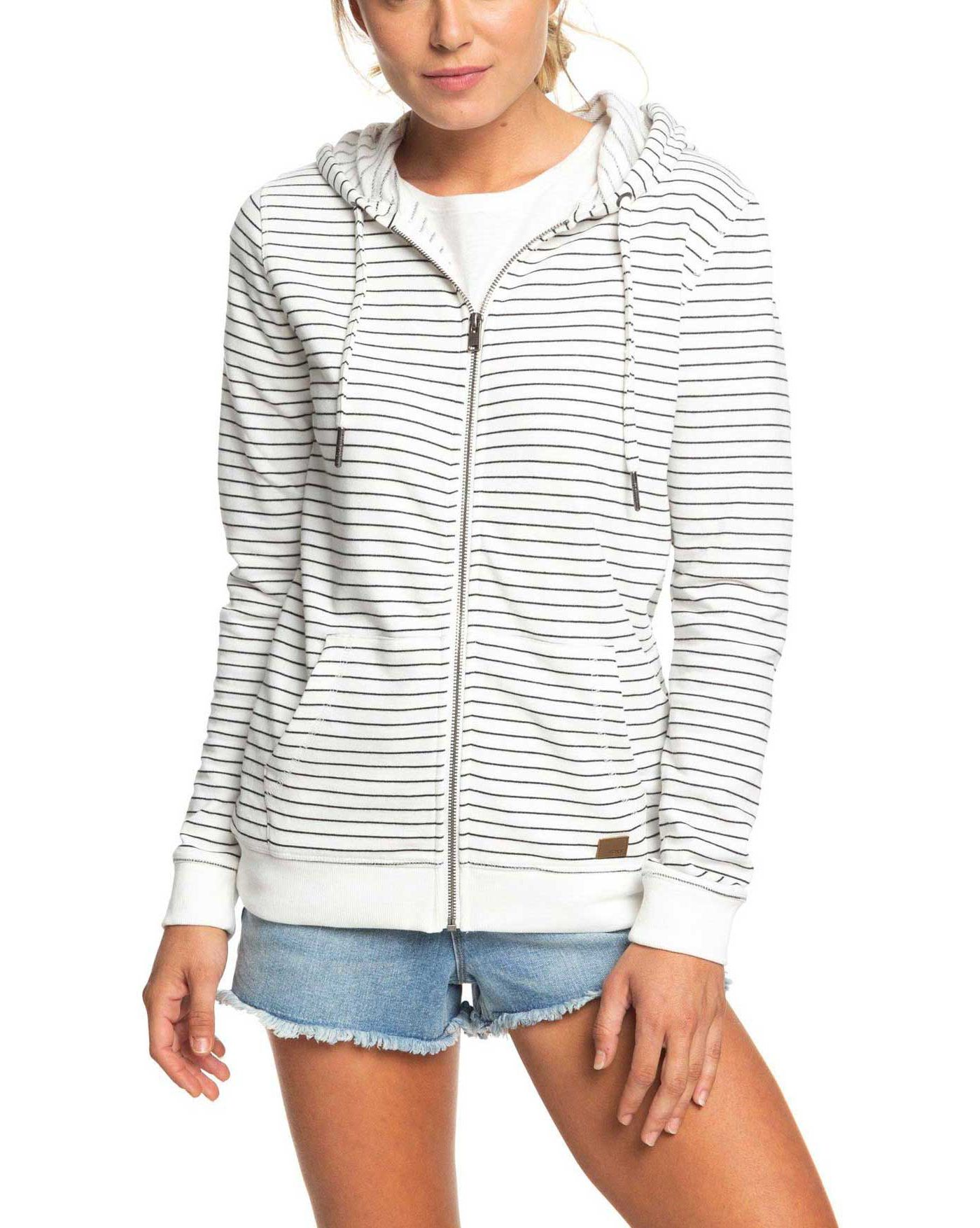 Roxy Women's Trippin Stripes Full Zip Hoodie
