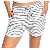Roxy Women's Trippin Stripe Fleece Shorts