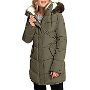 Roxy Women's Ellie Longline Hooded Waterproof Puffer Jacket