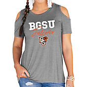 Gameday Couture Women's Bowling Green Falcons Grey Cold Shoulder T-Shirt