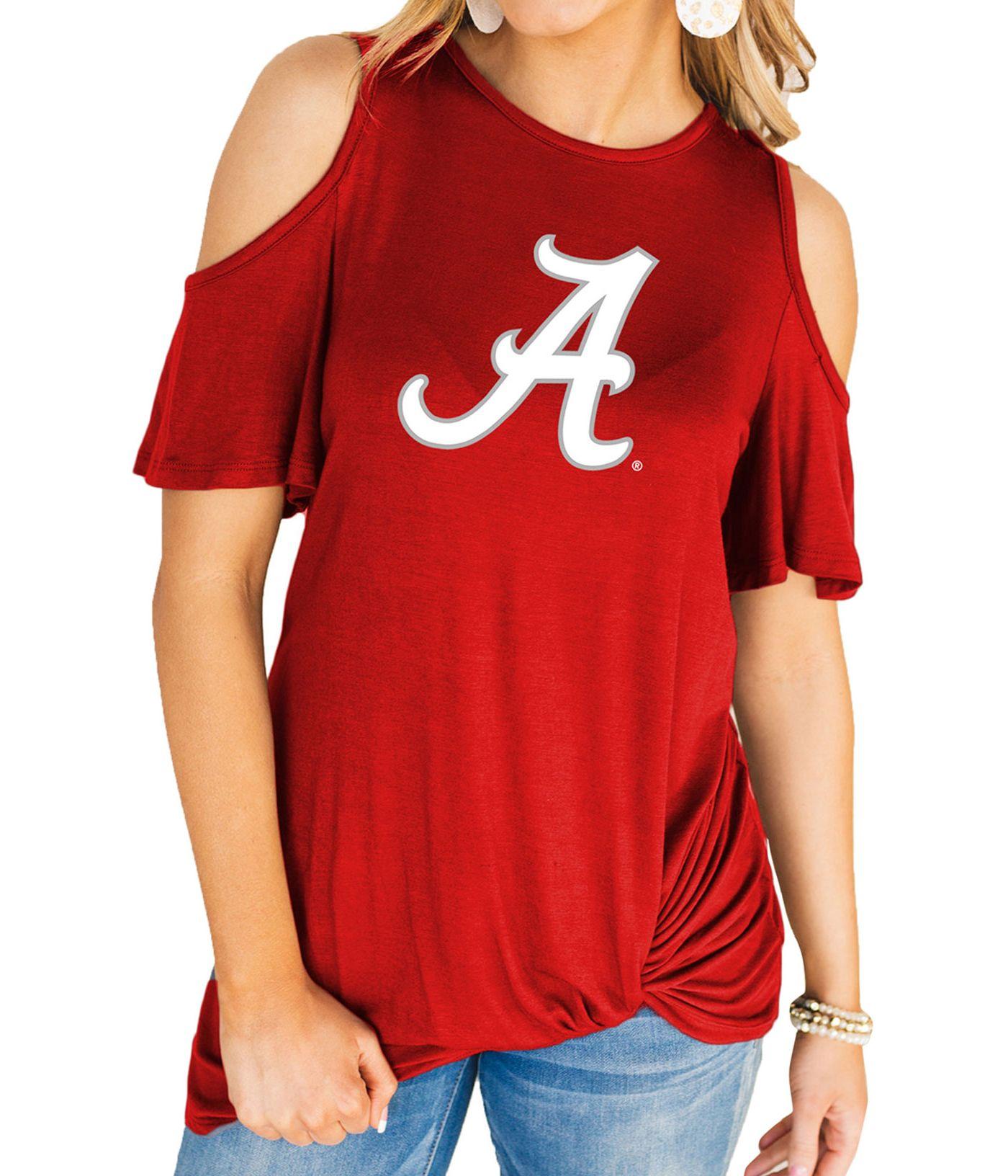 Gameday Couture Women's Alabama Crimson Tide Crimson Alma Mater Cold Shoulder T-Shirt