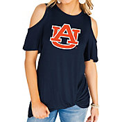 Gameday Couture Women's Auburn Tigers Blue Alma Mater Cold Shoulder T-Shirt