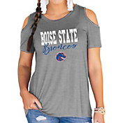 Gameday Couture Women's Boise State Broncos Grey Cold Shoulder T-Shirt