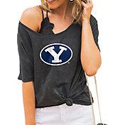 Gameday Couture Women's BYU Cougars Grey Vibing Boyfriend T-Shirt