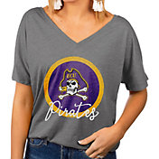 Gameday Couture Women's East Carolina Pirates Grey Subtle Dolman Sleeve V-Neck T-Shirt