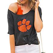 Gameday Couture Women's Clemson Tigers Grey Vibing Boyfriend T-Shirt