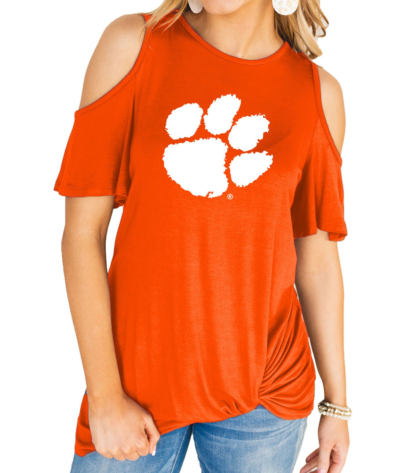 Gameday Couture Women's Clemson Tigers Orange Alma Mater Cold Shoulder T-Shirt