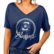 Gameday Couture Women's Creighton Bluejays Blue Subtle Dolman Sleeve V-Neck T-Shirt