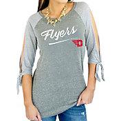 Gameday Couture Women's Dayton Flyers Grey Tie ¾ Sleeve Raglan Shirt