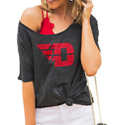 Gameday Couture Women's Dayton Flyers Grey Vibing Boyfriend T-Shirt