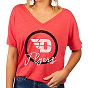 Gameday Couture Women's Dayton Flyers Red Subtle Dolman Sleeve V-Neck T-Shirt