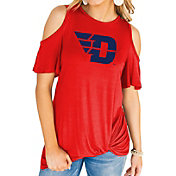 Gameday Couture Women's Dayton Flyers Red Alma Mater Cold Shoulder T-Shirt