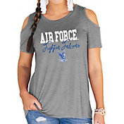 Gameday Couture Women's Air Force Falcons Grey Cold Shoulder T-Shirt