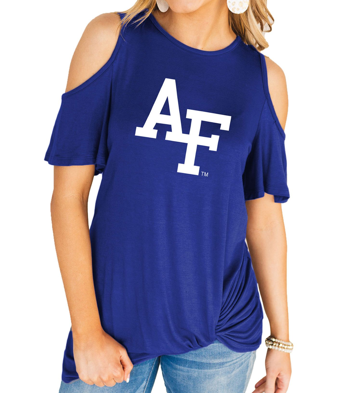 Gameday Couture Women's Air Force Falcons Blue Alma Mater Cold Shoulder T-Shirt