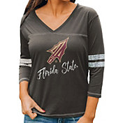 Gameday Couture Women's Florida State Seminoles Grey ¾ Sleeve Sport T-Shirt