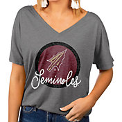 Gameday Couture Women's Florida State Seminoles Grey Subtle Dolman Sleeve V-Neck T-Shirt