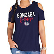 Gameday Couture Women's Gonzaga Bulldogs Blue Cold Shoulder T-Shirt