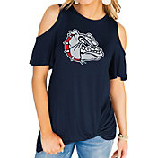 Gameday Couture Women's Gonzaga Bulldogs Blue Alma Mater Cold Shoulder T-Shirt