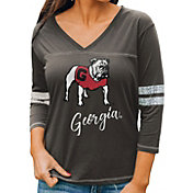 Gameday Couture Women's Georgia Bulldogs Grey ¾ Sleeve Sport T-Shirt