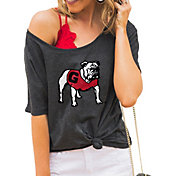 Gameday Couture Women's Georgia Bulldogs Grey Vibing Boyfriend T-Shirt