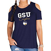Gameday Couture Women's Georgia Southern Eagles Navy Cold Shoulder T-Shirt